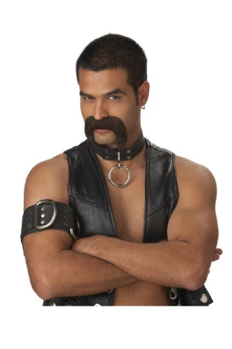California Costumes Men's The Leather Daddy Moustache, Dark Brown, One Size