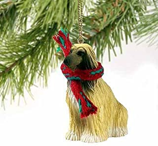 Afghan Hound Miniature Dog Ornament - Brown by Conversation Concepts