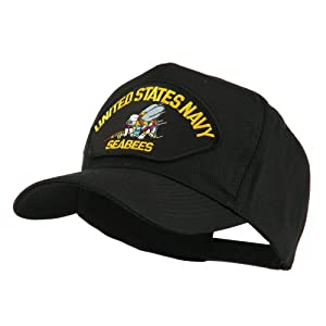 US Navy Seabees Military Patched Cap - Yellow Seabees