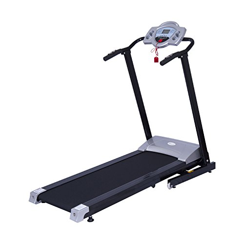 Soozier 1100W Portable Motorized Folding Treadmill Fitness Running Machine with LCD Display