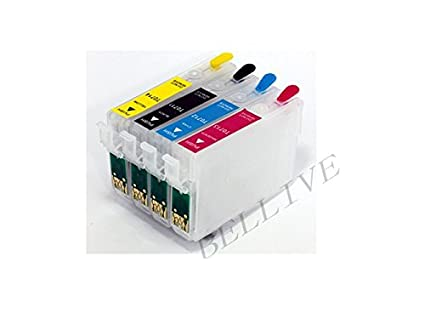4 Cartuchos Recargables para Epson T0711 T0712 T0713 T0714 con ...