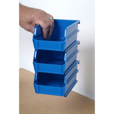 Stacking LocBin Shelving Unit Starter Finish: Blue, Size: 7-3/8'' L x 4-1/8'' W x 3'' H, Count: 10 by Triton 2