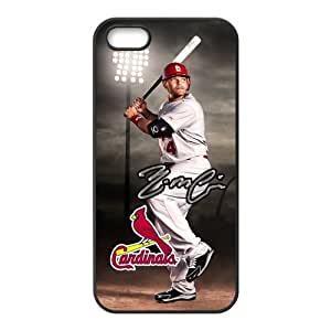 Luckeverything Customize MLB St. Louis Cardinals star Yadier Molina black (TPU) Case Fits and Protect iphone 5