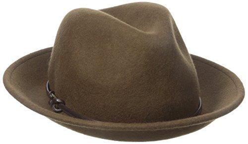 Goorin Bros. Women's Sofia Wool Felt Fedora Hat, Brown, Medium (Felt Sombrero)