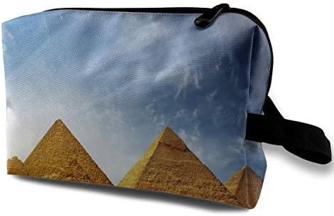 Pyramidピラミッド 化粧ポーチ メイクポーチ コスメポーチ 小物入れ 洗面用具 化粧品収納 トイレタリーバッグ 吊り下げ コンパクト 大容量 普段使い 出張 旅行 かわいい おしゃれ プレゼント
