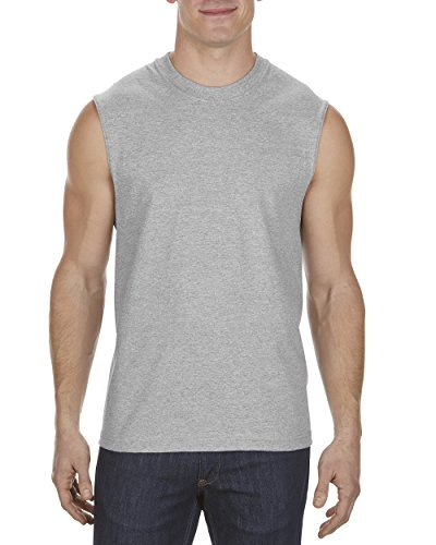 Men's Classic Sleeveless Muscle T-Shirt, Athletic Heather Gray, XX-Large ()