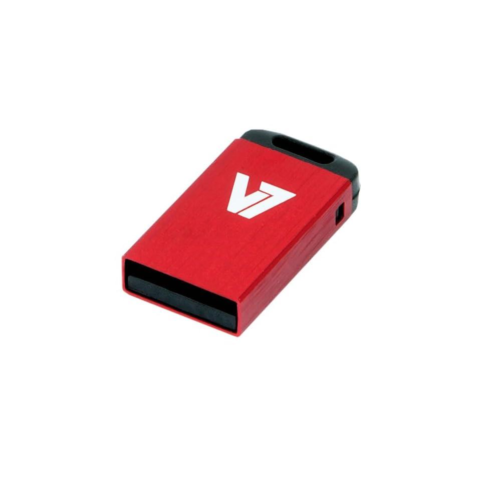 V7 Mini USB Flash Drive, 32GB (VU232GCR RED 2N)
