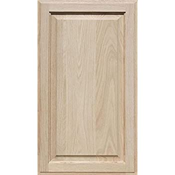 Square with Raised Panel by Kendor 31H x 11W Unfinished Oak Cabinet Door