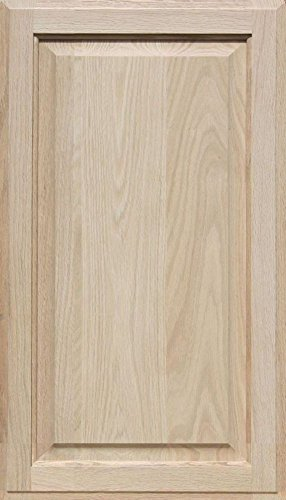 Unfinished Oak Cabinet Door, Square with Raised Panel by Kendor 28H x 16W by Kendor
