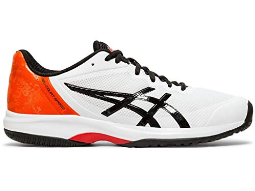 (ASICS Men's Gel-Court Speed Tennis Shoes, 13M, White/Black)