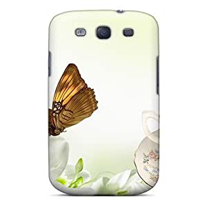Case Cover Elegance In White/ Fashionable Case For Galaxy S3