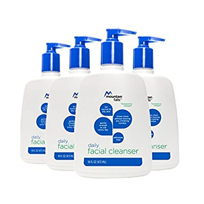 Mountain Falls Gentle Skin Cleanser for All Skin Types, Fragrance Free, Pump Bottle, Compare to Cetaphil