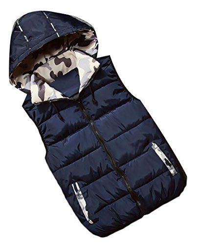 Vest 2 Quilted Winter Hooded Removable Men's Outwear Generic n0qPXP