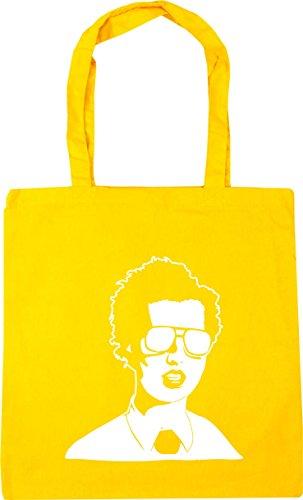 HippoWarehouse napoleon dynamite Tote Shopping Gym Beach Bag 42cm x38cm, 10 litres Yellow