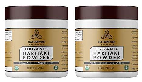 Naturevibe Botanicals Haritaki Powder (16 oz) (2 Packs of 8 oz Each) - USDA Organic Terminalia Chebula, Gluten Free & Non- GMO | Supports Weight Loss | Helps Boost Immunity.