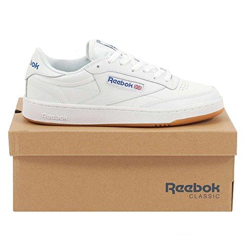 Reebok Heren Club C 85 Fashion Sneaker Wit / Royal-gum