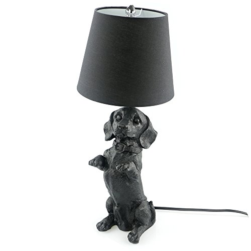 TTqp.home Bedside Nightstand Lamp ,Table Lamp for Bedroom Living Room Office Study lamp , Puppy Table Lamp For Room Decoration Handmade Resin Engraving E26 Desk Lamp (Beagle)