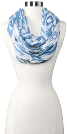 Echo Design Women's Island Ikat Sequined Infinity Scarf, Azure Blue, One Size