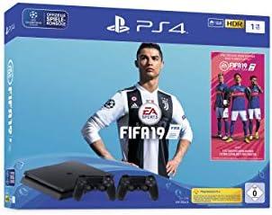 Sony PlayStation 4 Slim 1TB + 2x DUALSHOCK 4 + FIFA 19 Negro 1000 GB Wifi - Videoconsolas (PlayStation 4, Negro, 8192 MB, GDDR5, AMD Jaguar, AMD Radeon): Amazon.es: Videojuegos