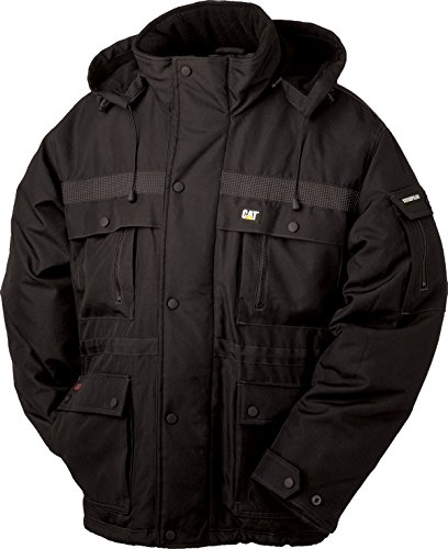 Caterpillar Men's Big and Tall Heavy Insulated Parka (Regular and Big & Tall Sizes), Black, Large