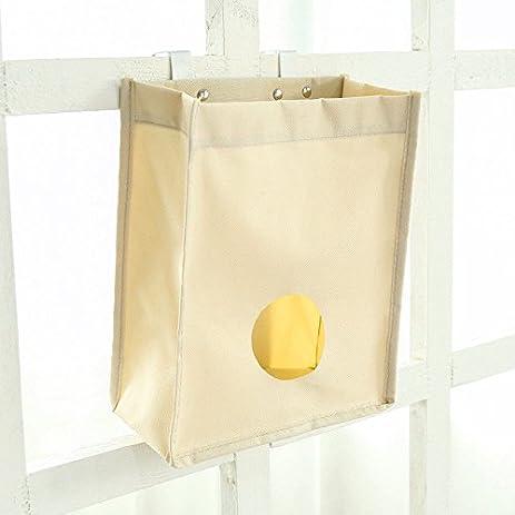 MIJORA 1pc Grocery Bag Holder Wall Mount Storage Dispenser Kitchen Bathroom  Organizer