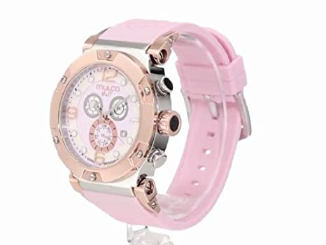 Amazon.com: RELOJ para MUJER MULCO UNISEX MW5-1623-813 NUIT TRACK CHRONOGRAPH SWISS MOVEMENT: Health & Personal Care