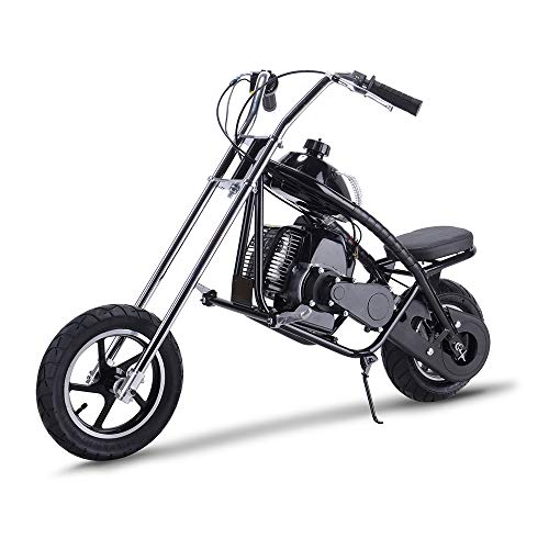 Rugged Gas Dirt Bike 49cc Kids Scooter 2 Stroke EPA Motor Mini Chopper Motorcycle,Black (Chopper Kids Mini)