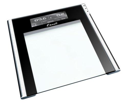 "Escali Track & Target Bathroom Scale - glass, 12.3""x12.3""x0."