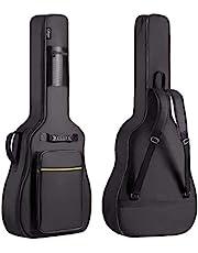 CAHAYA Funda de Guitarras Universal Acolchada de 8mm con 2 Bolsillos para Guitarras Acústica y Clásica con Tamaño Más Grandes para Guitarras de 39/40/41 Pulgadas