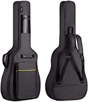 CAHAYA 41 Inch Acoustic Guitar Bag 0.35 Inch Thick Padding Waterproof Dual Adjustable Shoulder Strap Guitar Case Gig Bag...