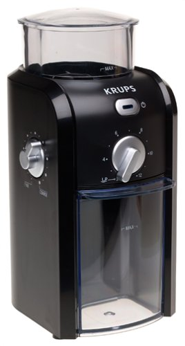 Krups Grid (KRUPS GVX1-14 Coffee Grinder with Grid Size and Cup Selection and Stainless Steel Conical Burr, Black)