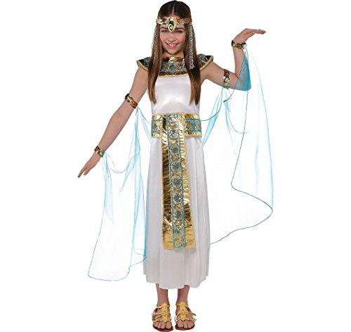 Amscan Shimmer Cleopatra Halloween Costume Girls, Medium Included Accessories -