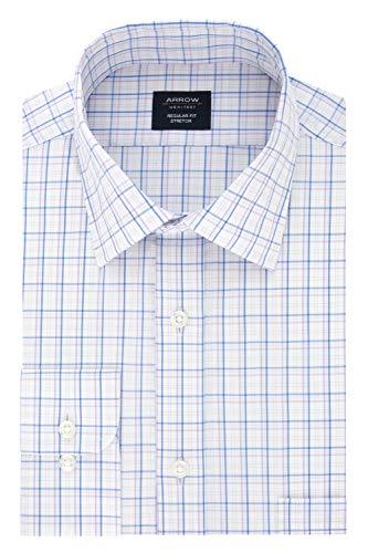 Arrow Men's Dress Shirt Regular Fit Stretch Check, Tulip 15