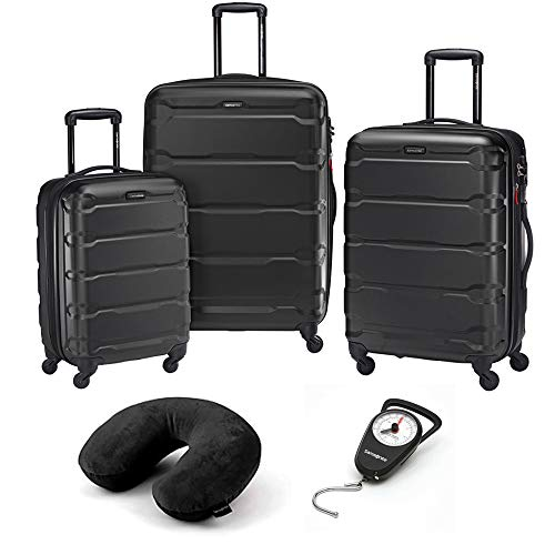 Samsonite Omni Hardside Luggage Nested Spinner Set of 3 Black with Travel Kit