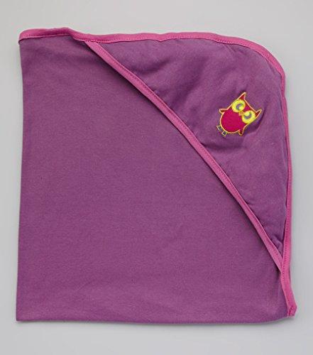 Bambino Land Hooded Blanket - Violet & Rosebud Trim ()