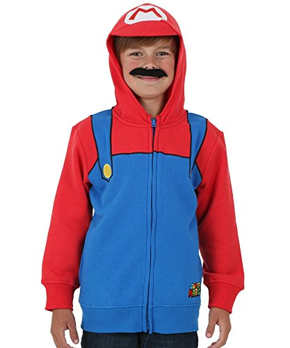Toad Mario Costumes (Nintendo Boy's Mario Bill, Royal/Red, X-Large)