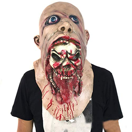 Partiss Halloween Disgusting Rotten Bloody Zombie Mask One