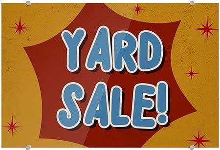 18x12 5-Pack Nostalgia Burst Premium Acrylic Sign Yard Sale CGSignLab