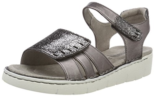Jenny WoMen Korsika-Sport Platform Sandals, Grey, 4 UK Grey (Street 05)