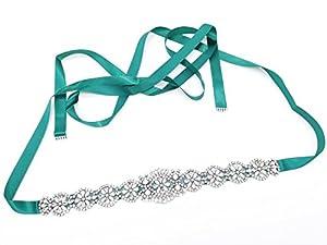 Bride Rhinestone Wedding Belt Handcrafted Sparkle Sewn or Hot Fix for Women