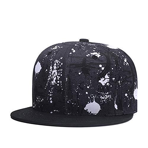 Quanhaigou Cool Graffiti Snapback,Mens Womens Adjustable Baseball Cap Black Flatbrim Caps