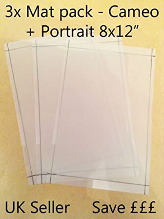 A4 Value Cutting Mat X3 Pack Suitable For Silhouette Cameo Carrier Sheets