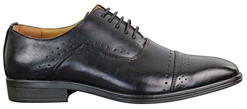 Classique Chaussures Homme Style Richelieu Simili Cuir PU Vintage Rétro Professionnel Noir u7iPaM