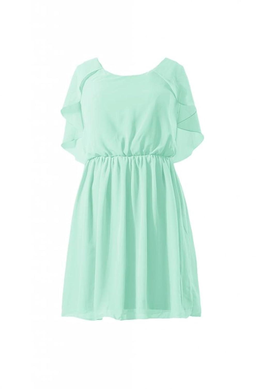 DaisyFormals Scoop Neckline Party Dress Vintage Chiffon Bridesmaid Dress(BM1552)