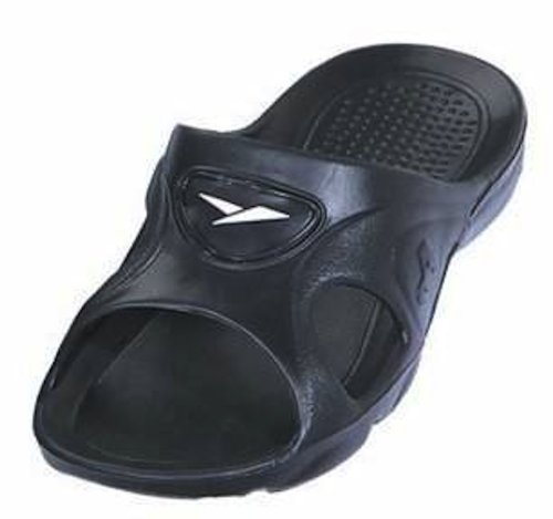 Gear One Mens Scivolo In Gomma Sandalo Slipper Comodo Doccia Beach Shoe Slip On Flip Flop Nero