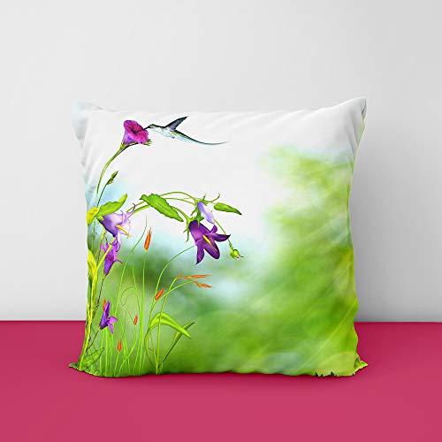 41WAZ4cYSnL Flower & Birds Square Design Printed Cushion Cover