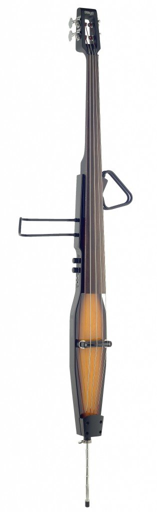 Stagg EDB-3/4RDL VBR Deluxe 3/4 Size Electric Double Bass with Gig Bag Included - Violinburst by Stagg