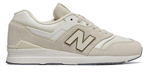 動物所得半球(ニューバランス) New Balance 靴?シューズ レディースライフスタイル Leather 697 Moonbeam US 8 (25cm)