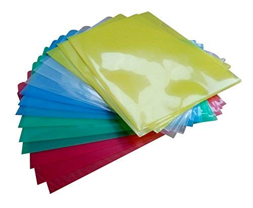 AROM Office Premium Clear Document Folder Set of 15 in 5 Assorted Colors