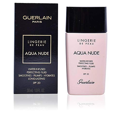 Guerlain Lingerie De Peau Aqua Nude Foundation Spf 20-02n Light By Guerlain for Women - 1 Ounce Foundation, 1 Ounce (Guerlain Day Foundation)